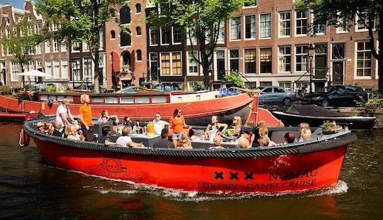 30 Ft Nomag Electric Boat Rental For 35 People In Amsterdam, Netherlands
