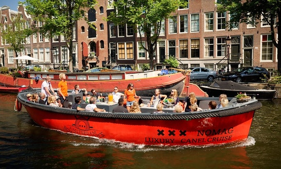 30 Ft Nomag Electric Boat Rental For 35 People In Amsterdam, Netherlands