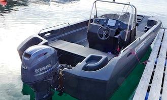 17.5ft Pioner Multi Fishing Boat Rental for 8 People in Stonglandseidet, Norway