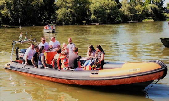 Charter Humber Ocean Pro 8 Rigid Inflatable Boat In Budapest, Hungary