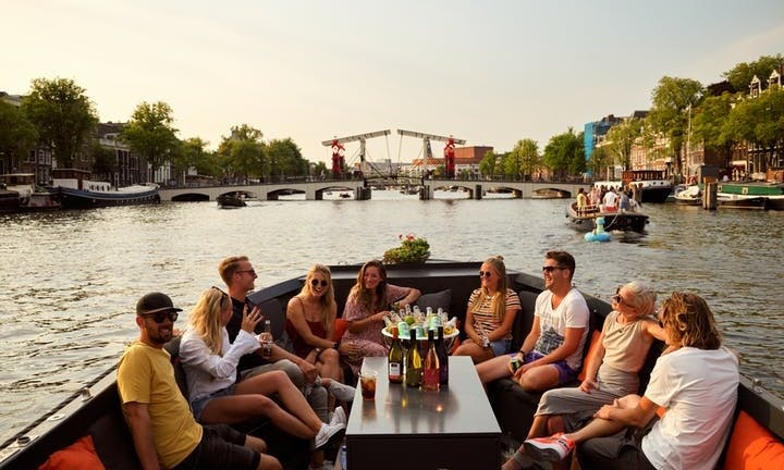 Luxury Canal Cruise on an Electric Boat in Amsterdam, Netherlands