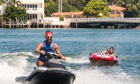 Adrenaline Fun Watersports With A Jet Ski And Instructor In Miami, Florida