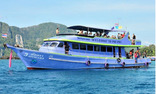 One Day Island Trip By Big Boat In Phi Phi, Thailand!