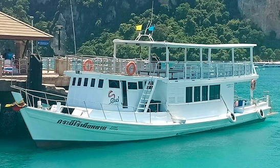 Amazing Private Boat Rental For 45 People In Koh Phi Phi, Thailand