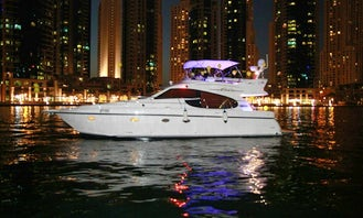 A nice 20 person Yacht rental in دبي Dubai for a nice day out
