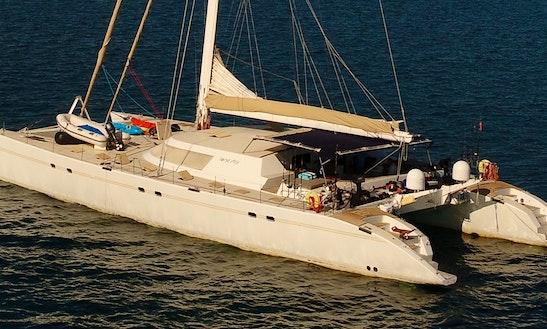 Charter 85' Lonestar Sailing Catamaran In Seychelles, Madagascar, Maldives And Other Indian Ocean Destinations