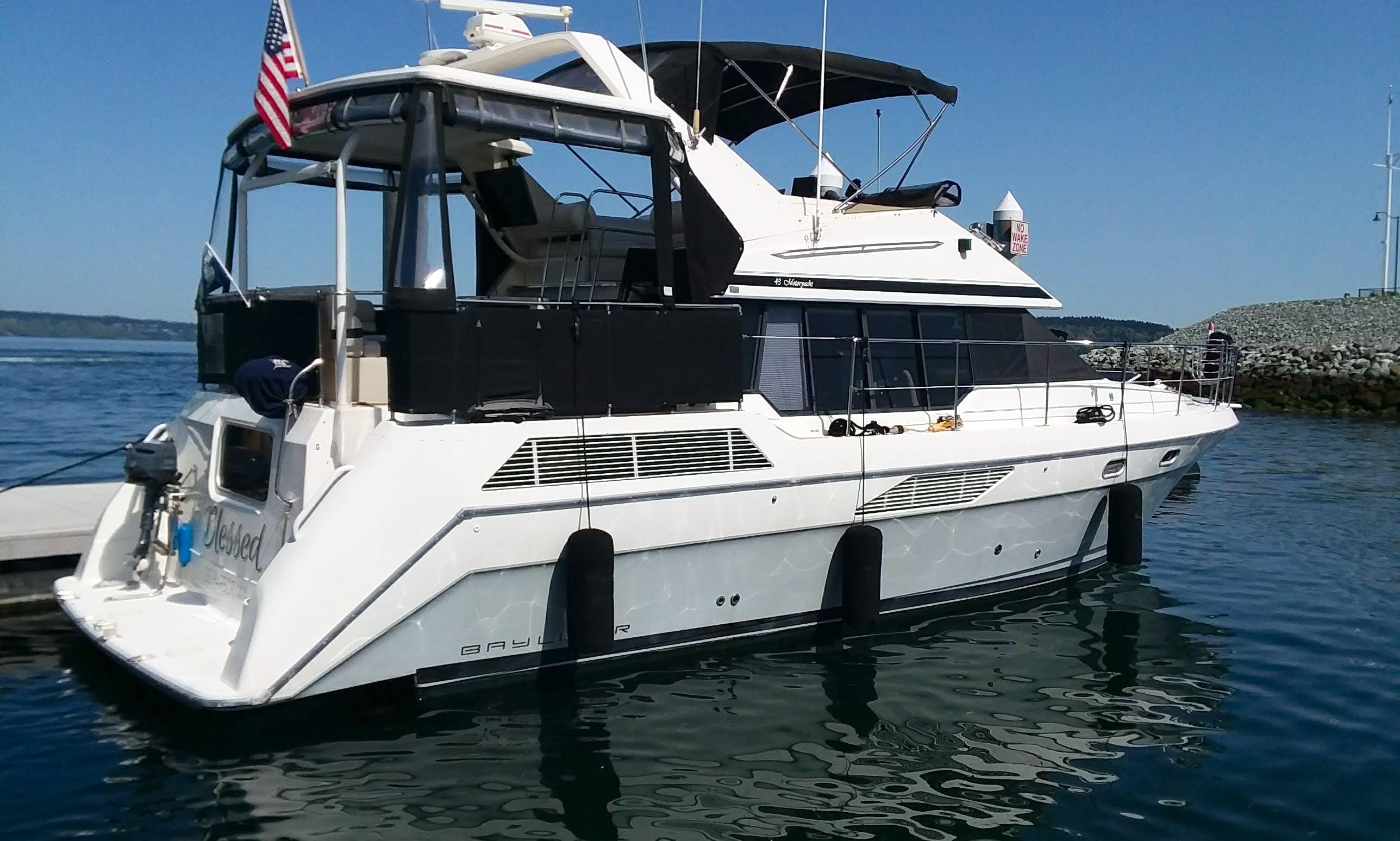 Motor Yacht Charter in Puget Sound or Lake Washington