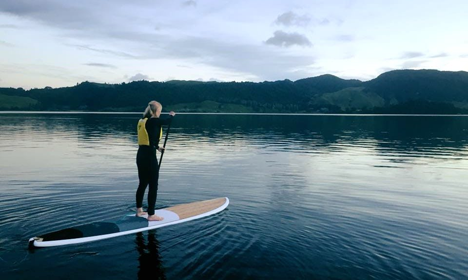 Paddle Board Adventure Tour in Rotorua, New Zealand with Professional Guides