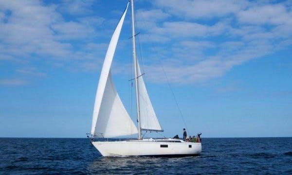 "Book the 42ft ""Jethou II"" Gib sea Cruising Monohull in Granville, France"