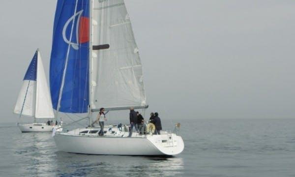"Charter the 37ft ""Fara"" Jeanneau Sun Fast Cruising Monohull in Granville, France"