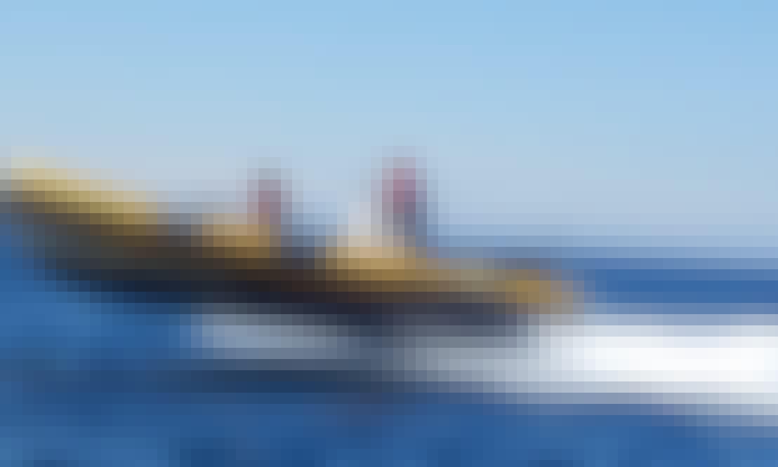 25 ft Bwa America RIB Rental for 14 People in Peniche, Portugal