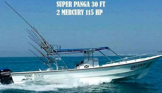 30 Ft Super Panga Fishing Boats Rental For Up To 4 People In Puerto Vallarta, Mexico