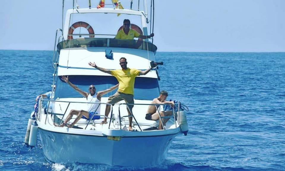 35 ft Luxury Motor Yacht Charter for Up to 12 People in Las Galletas, Spain