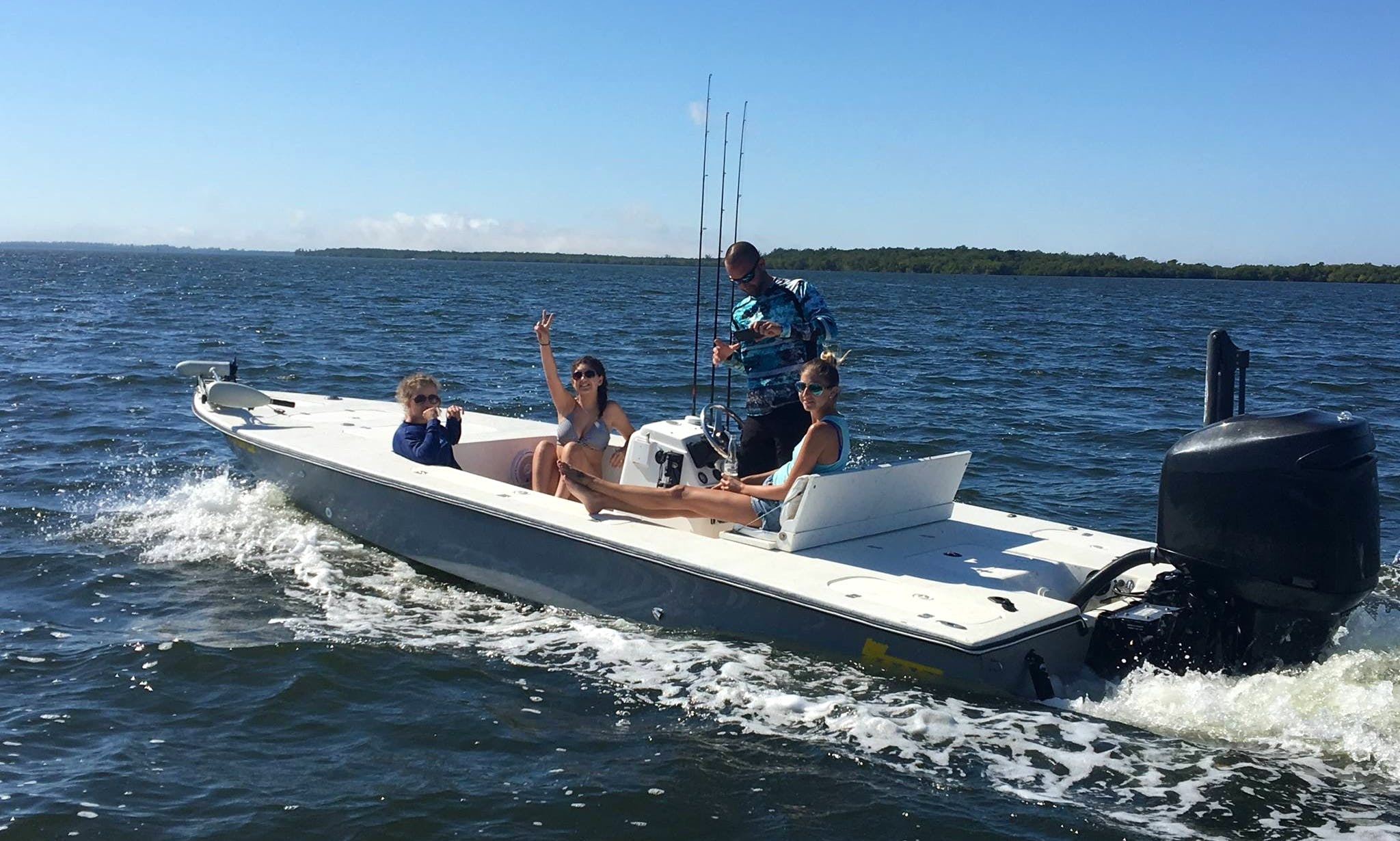 Fishing Trip on 21' Low Tide Flats Boat in Fort Myers, Florida with Captain Mark