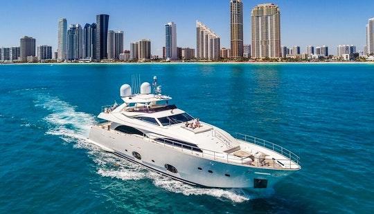 Yacht Charters Miami - 97' Ferretti - Miami, Florida Keys, The Bahamas!