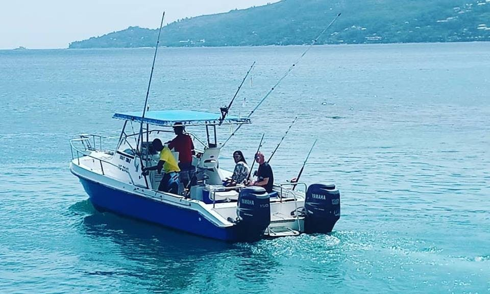 Fishing Trip on 29' Fishing Boat for 6 People in Victoria, Seychelles