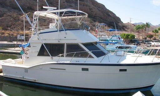 38ft Hatteras Sportfisher Private Boat Charter for Up to 12 People in San Carlos, Mexico