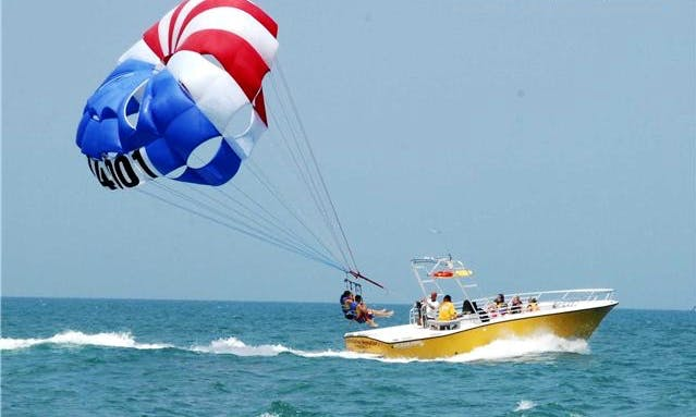 Parasailing in Ponce Inlet