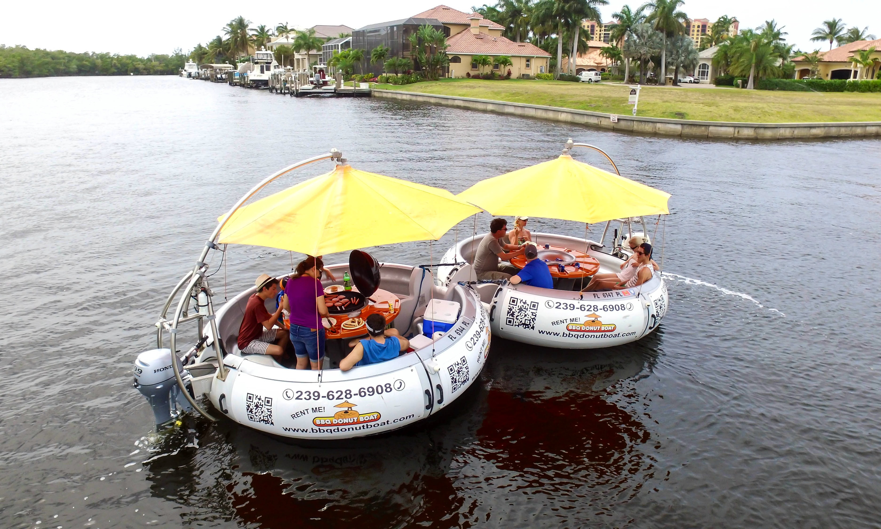 Rent a BBQ Donut Boat in Cape Coral, Florida   GetMyBoat
