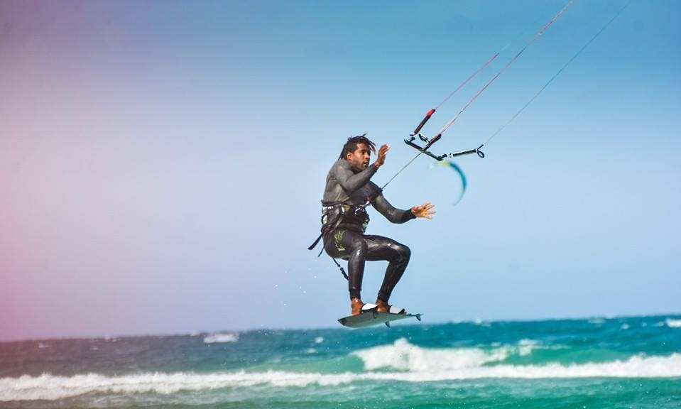 Private Kitesurfing Lesson with 100 Feet  IKO Center in Santa Maria, Cape Verde