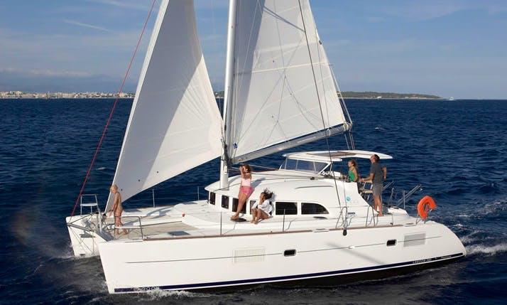 Charter 38' Lagoon Cruising Catamaran in Algarve, Portugal