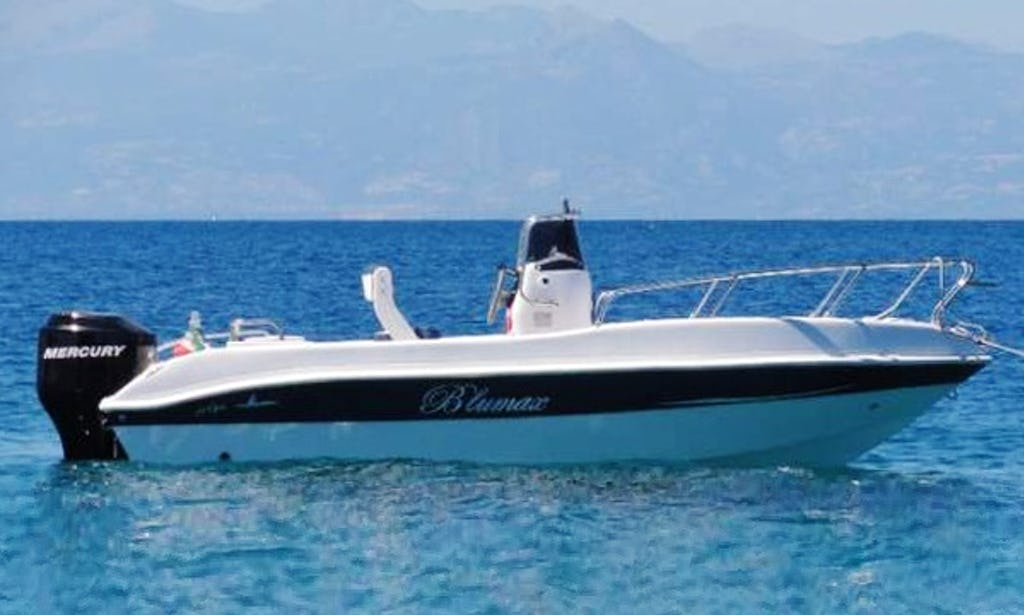 Blueline open 19 powerboat 6 people capacity in giardini naxos