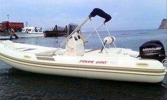 Mercury Powered Semi Rigid Inflatable Poker Boat in Giardini Naxos