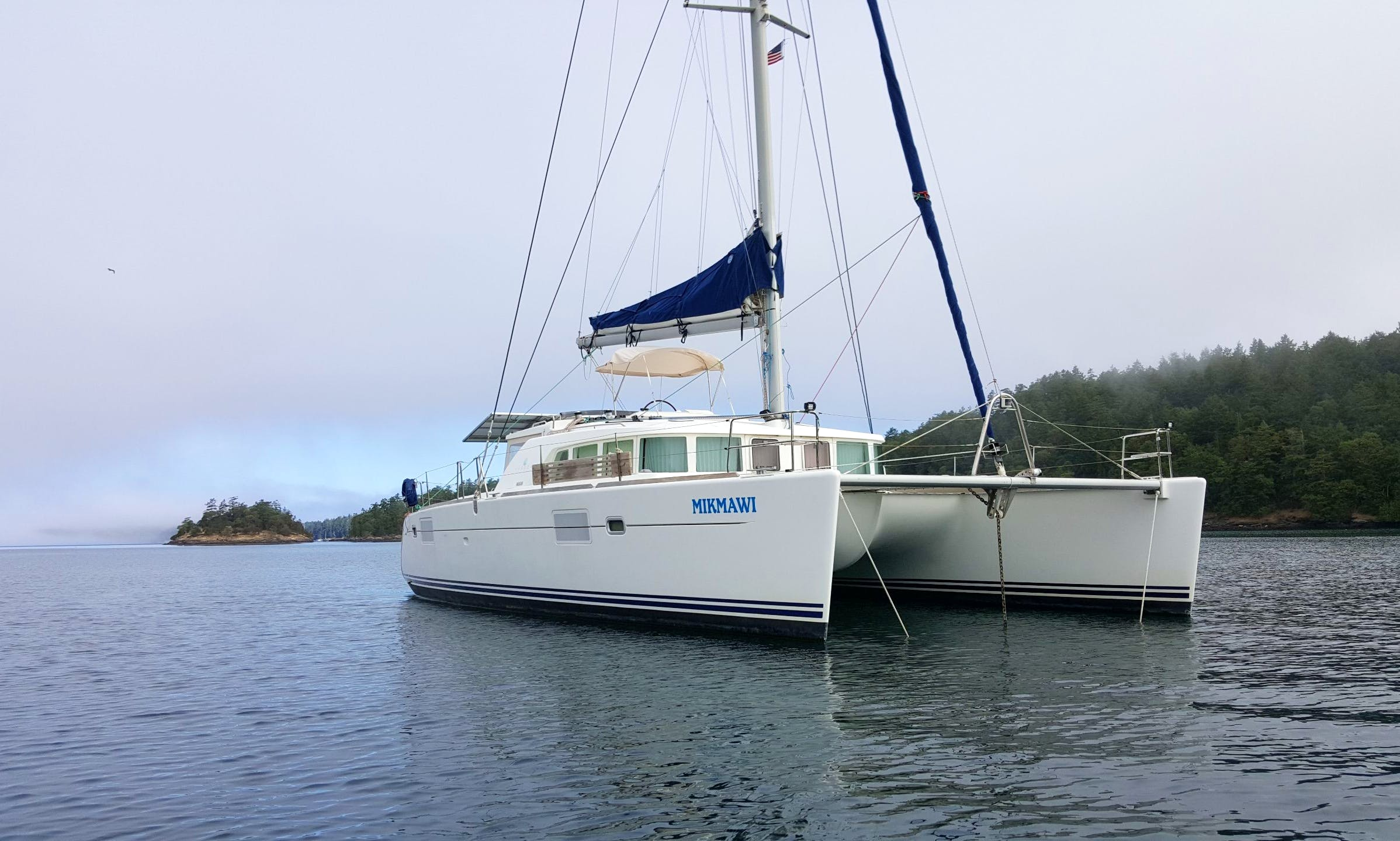 MIKMAWI CHARTERS, Cruising Catamaran rental in Seattle, Wa.