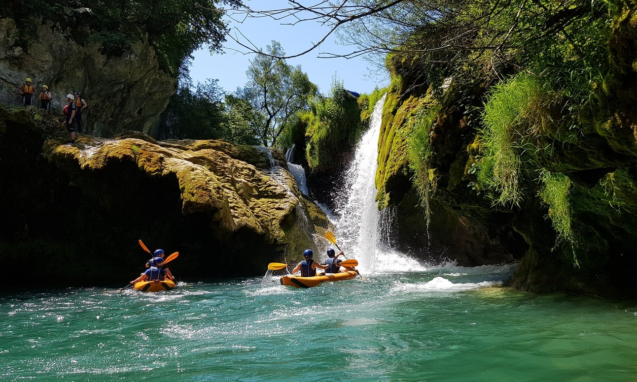 Kayak rental safari tour River Mrežnica in Slunj, Croatia