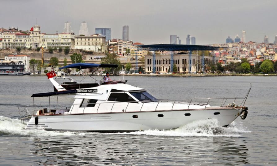 $90 an hour for this amazing yacht rental in İstanbul