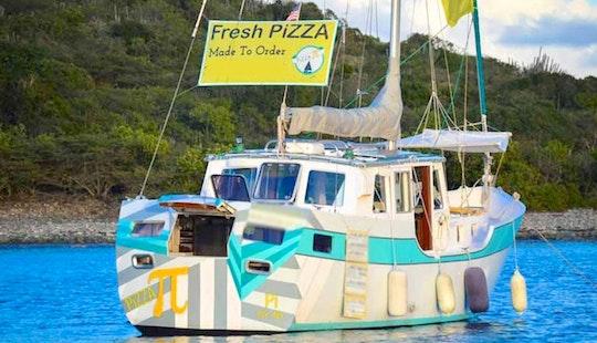 Sloop Charter Pizza Boat In St. John, British Virgin Islands