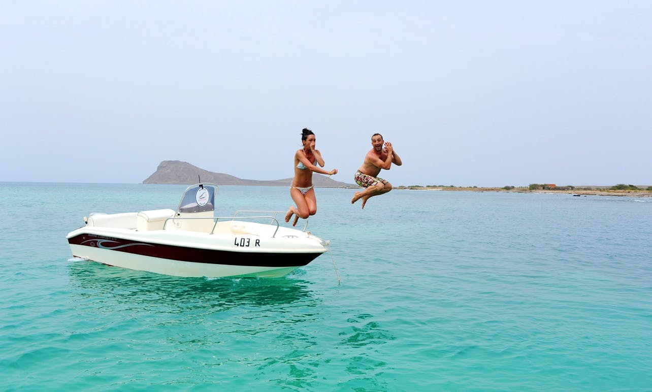 American Open Boat Rental in Murdeira, Cape Verde!