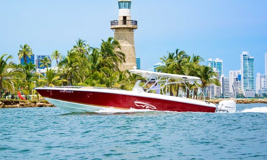 Celebrate On The Water With This 38' Bowrider For Rent In Cartagena, Colombia