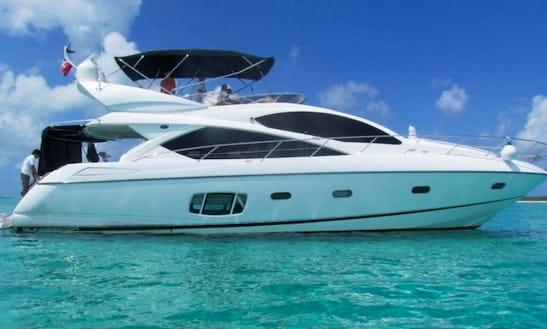 64'  Sunseeker Manhattan Luxury Yacht In Cancún