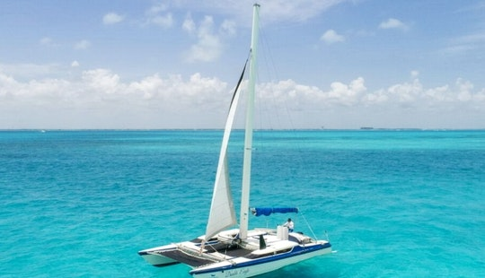 Private Sunset Tours In Cancún Aboard 32ft Cruising Catamaran