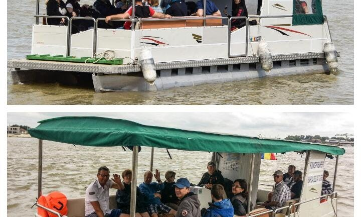 Pontoon boat KINGFISHER - 12 pers group tours - private on request