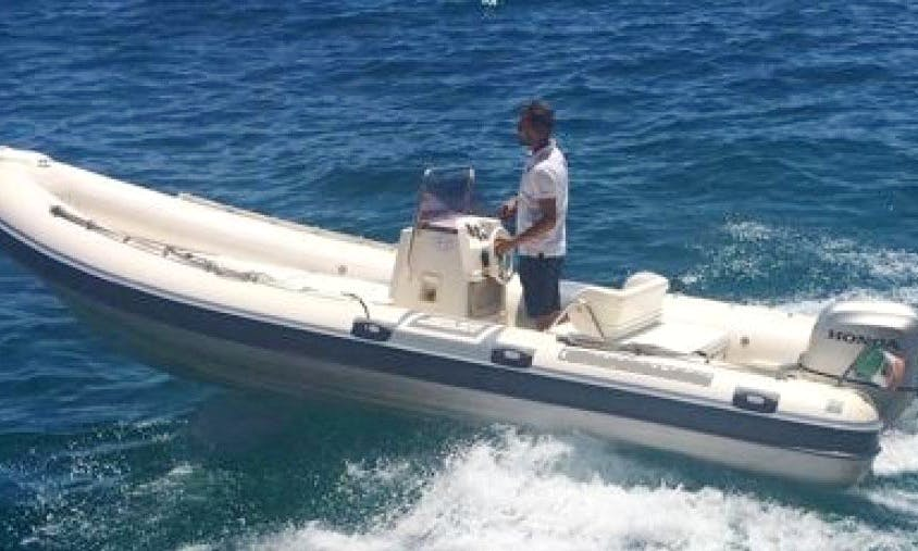 Clubman 21 RIB Rental for Up to 8 People in Positano, Italy with Skipper