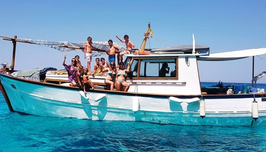 Private Charter On-board A 43 Ft Trawler For 12 People In Ibiza, Spain