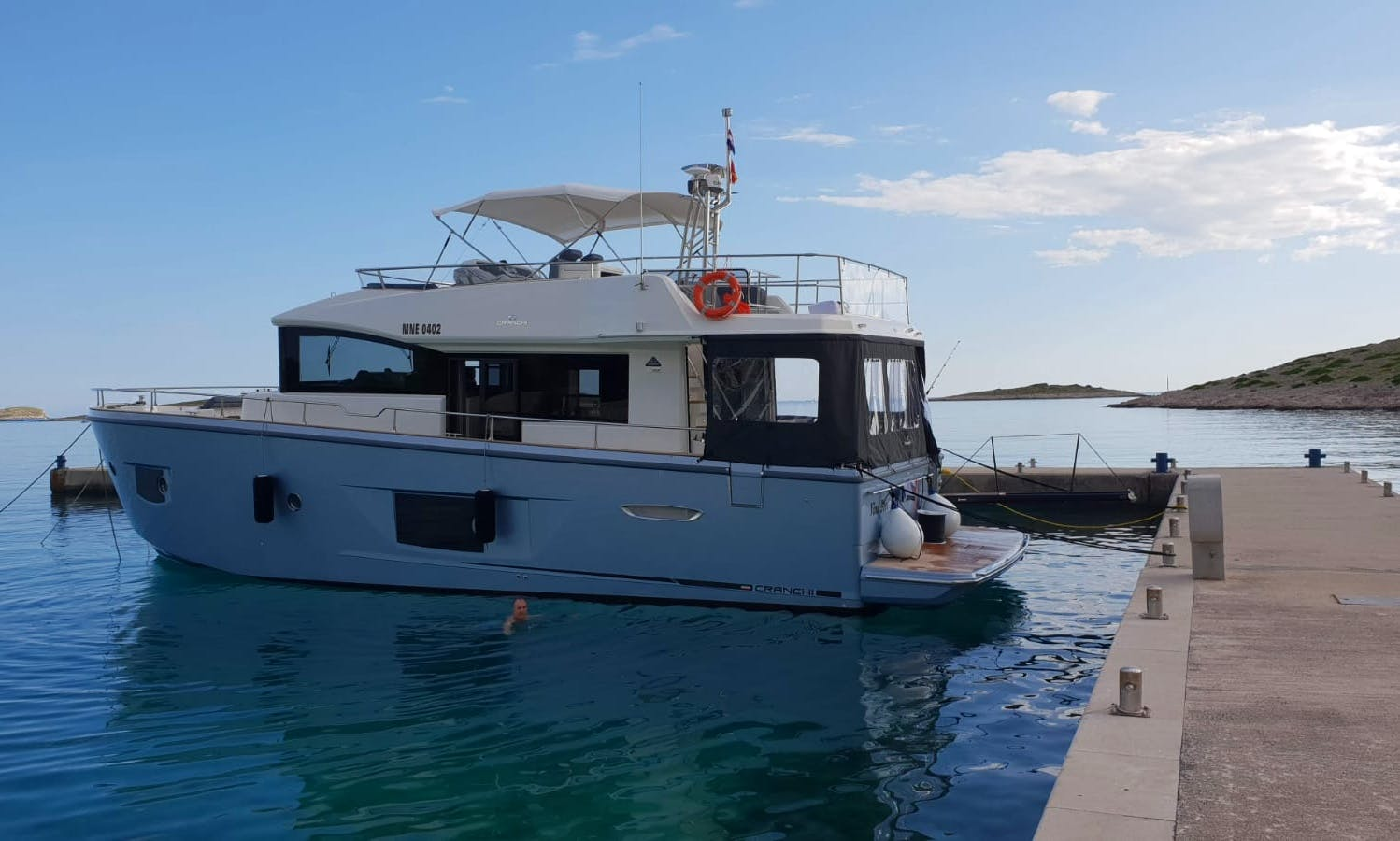 Cranchi Trawler 53 Charter for Up to 6 People in Budva, Montenegro