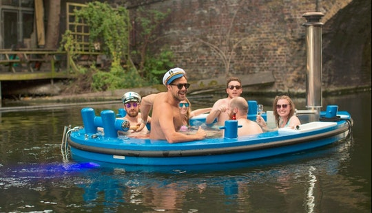 World's First Floating Hot Tub, Cruising In Central London Canals