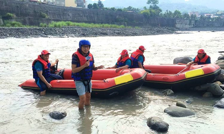 Whitewater Rafting on Laonong River in Taiwan