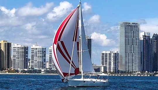 Private Sailing Charter On Miami's Biscayne Bay - Beneteau 40 Ft Sailboat