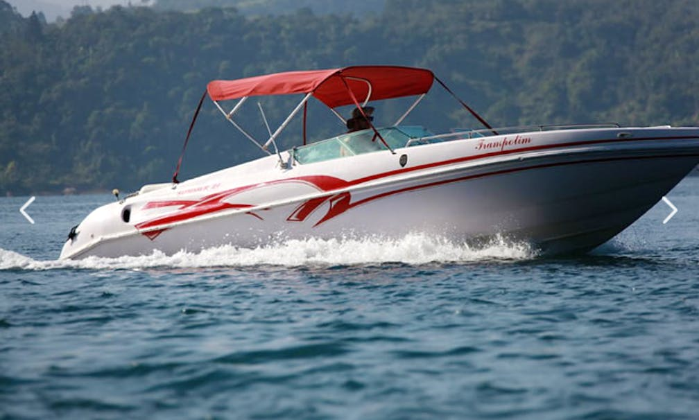 26ft Deck Boat Rental for Up 8 Poeple to in Rio de Janeiro, Brazil