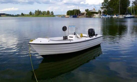 24ft Gerda 15 Ps Center Console Boat Rental In Berlin, Germany