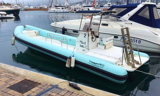 Diving Trips And Courses In Liguria, Italy On 31' Rigid Inflatable Boat