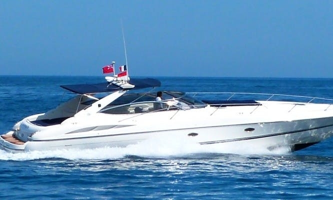 50 ft Sunseeker Superhawk Motor Yacht Charter for 11 People in Cannes, France