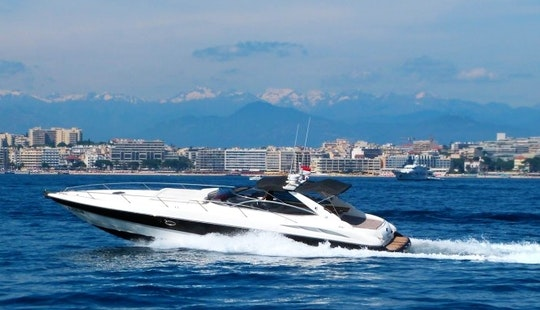 Captained 50' Sunseeker Superhawk Motor Yacht Charter In Cannes, France