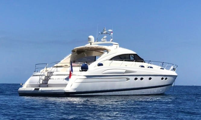 65 ft Princess Luxury Motor Yacht Charter for Up to 12 People in Cannes, France