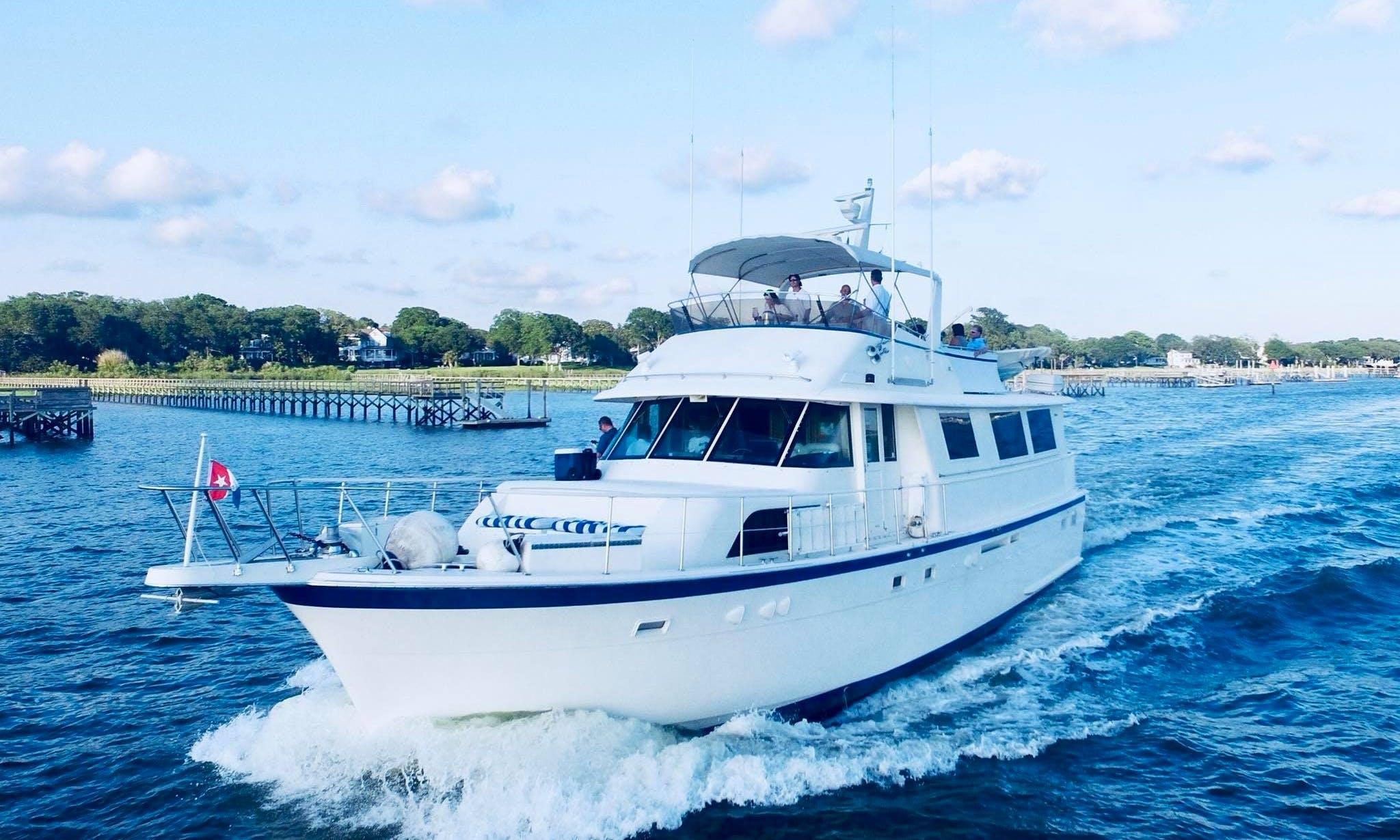 61' Hatteras Motor yacht for overnight rental