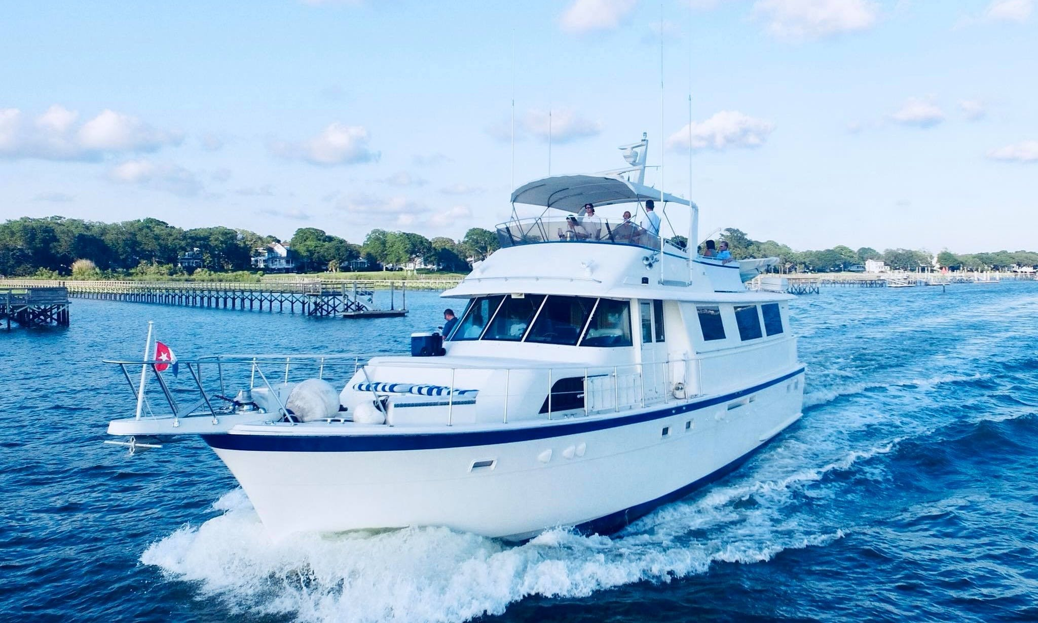 61' Hatteras Motor yacht for overnight rental